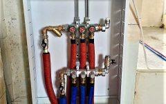 монтаж коллектора на отопление