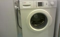 Подключение стиральной машины bosch