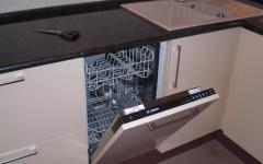 Установка встраиваемой посудомоечной машины