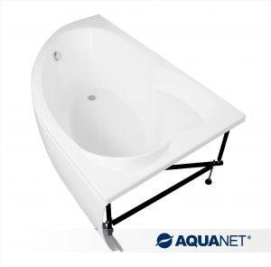 2_Акриловая ванна Aquanet Sarezo на металлическом каркасе