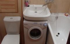 Подключение стиральной машины под раковиной