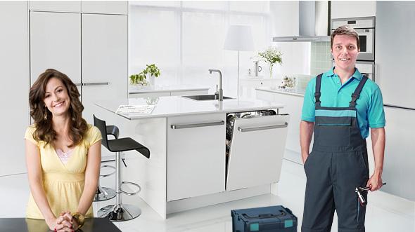 подключение посудомойки в москве фото