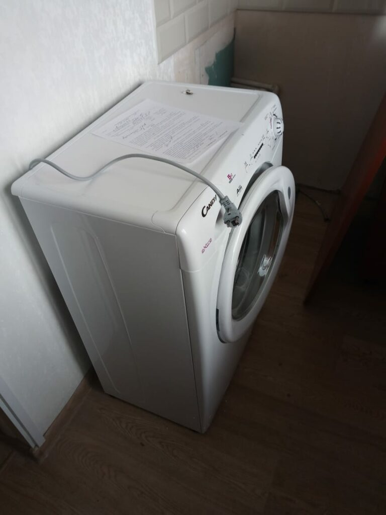 установка стиральной машины в москве фото
